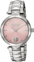 Versus By Versace Women's 'COVENT GARDEN' Quartz Stainless Steel Casual Watch, Color:Silver-Toned (Model: SCD090016)