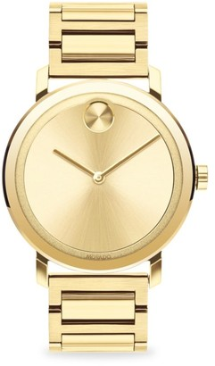 Movado BOLD Evolution Light Gold Ion-Plated Stainless Steel Bracelet Watch