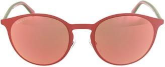 Gucci Web-Stripe Round Sunglasses