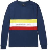 Stüssy - Race Stripe Printed Cotton-jersey T-shirt