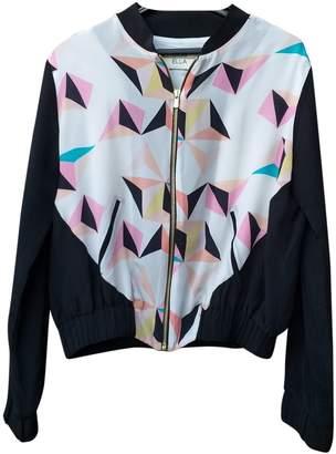 ELLA LUNA Multicolour Silk Leather Jacket for Women