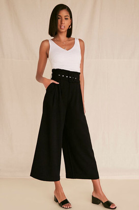 Forever 21 High-Rise Belted Palazzo Pants