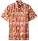 Reyn Spooner Men's Plus Size Lahaina Sailor Classic Fit Button Front Hawaiian Shirt