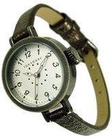 Tokyobay Tokyo Bay T2033-BR Women's Stainless Steel Brown Leather Band Dial Watch