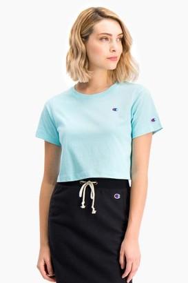 Champion Aqua Cropped T Shirt - S