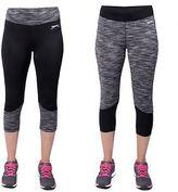 Slazenger Womens Crop Gym Sports Pants Running Leggings Trousers 8-16