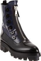 Miu Miu Bicolor Center-Zip Ankle Boot
