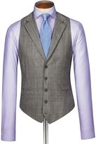 Charles Tyrwhitt Grey Prince Of Wales Check Panama Business Suit Wool Vest Size w36