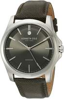 Kenneth Cole New York Kenneth Cole Men's New York 10027419 Leather Quartz Watch