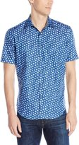 Bugatchi Men's Donatello Short Sleeve Shaped Button Down Shirt
