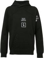 Julius printed hooded sweatshirt