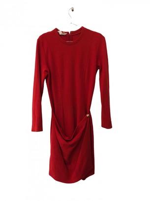 Salvatore Ferragamo Red Wool Dresses