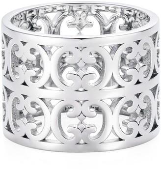 Hendrikka Waage Sterling Silver Double Baron Pattern Ring