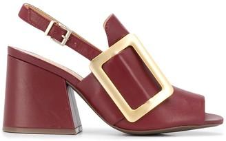Schutz Block Mid-Heel Sandals