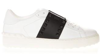 Valentino White & Black Leather Studs Sneaker