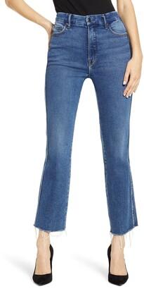 Good American Good Curve High Waist Ankle Straight Leg Jeans