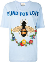 Gucci Blind For Love T-shirt - women - Cotton - M