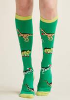 ModCloth Festive Rex Knee Socks - Size OS