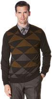 Perry Ellis Diamond Colorblock Sweater