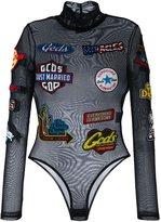 Gcds sheer branded bodysuit