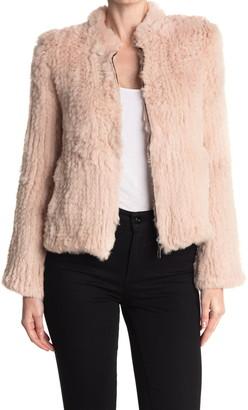 Love Token Kensley Genuine Dyed Rabbit Fur Jacket
