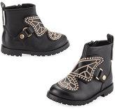 Sophia Webster Karina Leather Boot, Black, Toddler/Youth