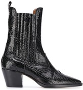 Paris Texas croc-effect ankle boots