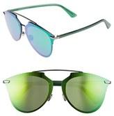 Christian Dior Women's Reflected 63Mm Retro Sunglasses - Dark Ruthenium/ Green