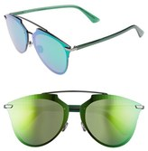 Christian Dior Women's Reflected Prism 63Mm Oversize Mirrored Brow Bar Sunglasses - Dark Ruthenium/ Green