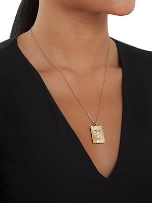 David Webb Zodiac 18K Yellow Gold Reversible Gemini Pendant Necklace