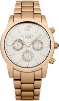 Lipsy women's Quartz Watch with Dial Analogue Display and Rose Gold Other Bracelet LP351