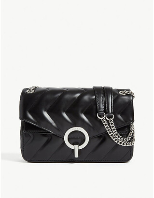 Sandro YZA quilted leather shoulder bag