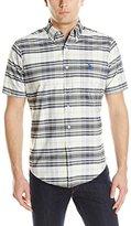 U.S. Polo Assn. Men's Short Sleeve Oxford Plaid Sport Shirt