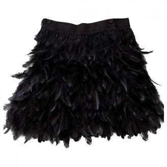 Alice + Olivia Black Fur Skirt for Women