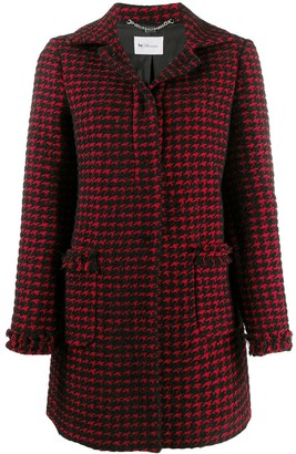 Blumarine Patterned Single Breasted Coat