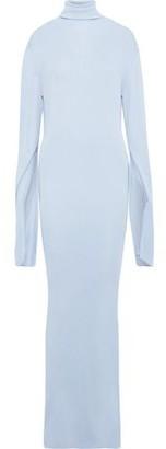 KHAITE Naomi Stretch-knit Turtleneck Maxi Dress