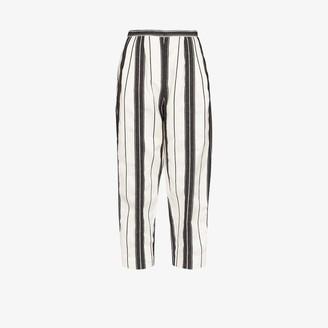 Alexander McQueen High waist striped trousers