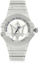 Kenzo Maserati Potenza 3H Silver Dial Stainless Steel Watch