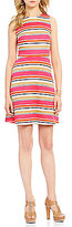 MICHAEL Michael Kors Madison Stripe Fit-And-Flare Dress