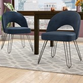 Bronx Lisbon Upholstered Side Chair Ivy Upholstery Color: Navy