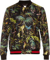 Gucci Tropical-print silk bomber jacket