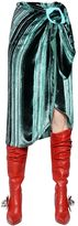 J.W.Anderson Devore & Lurex Wrap Skirt