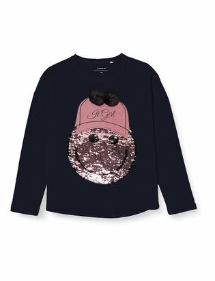 Name It Girl's Nkfhappy Isle Ls Oversize Top Non T-Shirt