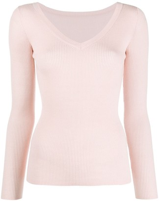 P.A.R.O.S.H. Fitted V-Neck Jumper