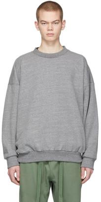 Fear Of God Grey Sixth Collection Logo Sweatshirt