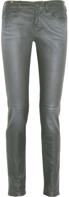 Notify Jeans Bamboo mid-rise skinny leather pants