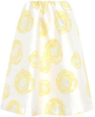 Ganni Turenne floral-jacquard skirt