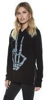 Lauren Moshi Corbin Pullover Hoodie in Black