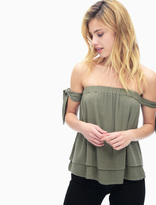 Splendid Bamboo Gauze Off Shoulder Top