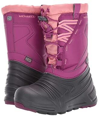 Merrell Snow Quest Lite 2.0 Waterproof (Little Kid/Big Kid) (Berry) Girls Shoes